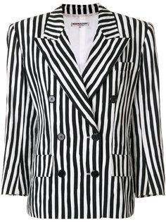 блейзер в полоску Yves Saint Laurent Vintage