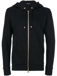 tiger print hoodie Balmain