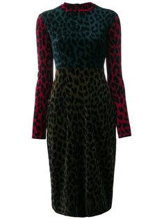 """платье с леопардовым принтом дизайна """"колор-блок"""" Odeeh"""