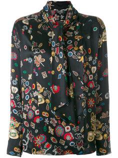 рубашка с принтом Chanel Vintage