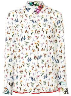 блузка с цветочным принтом  Paul Smith