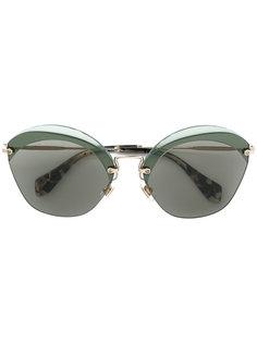 """солнцезащитные очки с оправой """"кошачий глаз"""" Miu Miu Eyewear"""