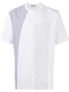 футболка с полосатыми заплатками Marni