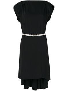 платье с вышивкой на талии Mm6 Maison Margiela