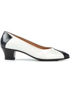 туфли с контрастным носком и каблуком Céline Vintage