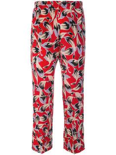 укороченные брюки с принтом  Nº21