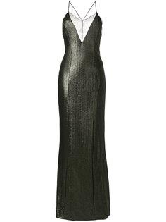 metallic crossback dress Galvan
