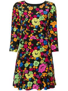 расклешенное платье с цветочным принтом  Boutique Moschino