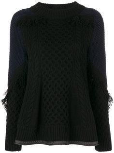 свитер с баской  Sacai