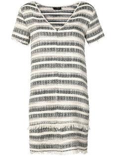 короткое платье с V-образным вырезом Chanel Vintage
