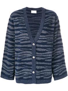 tonal zebra pattern cardigan Allude