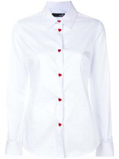 рубашка с пуговицами в виде сердечек  Love Moschino