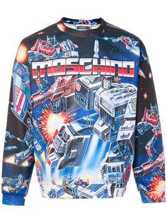 Transformer intarsia sweatshirt Moschino