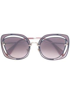 солнцезащитные очки с двойной оправой Miu Miu Eyewear