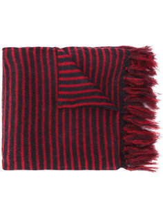 striped fringed scarf Mp  Massimo Piombo