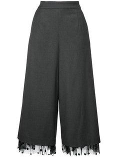 укороченные брюки с кружевной отделкой Muveil