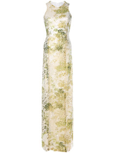 Paillette column gown Galvan