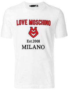 футболка с принтом с логотипом и аппликацией Love Moschino