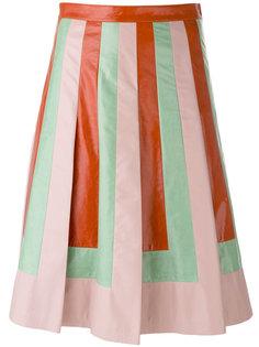 А-образная юбка в полоску  Valentino