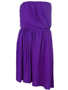 асимметричное платье без бретелек Yves Saint Laurent Vintage