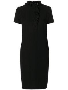 платье миди с оборкой  Lanvin