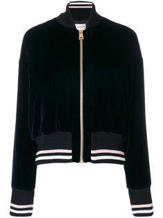 бархатная куртка-бомбер  Lanvin