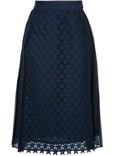 плиссированная юбка с вышивкой звезд Muveil