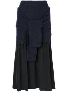 юбка с декоративными рукавами Joseph