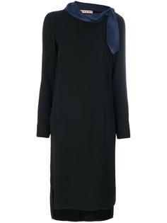 платье шифт с шарфом  Marni