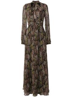 длинное платье с цветочным принтом Giambattista Valli