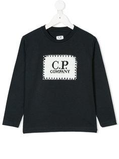 топ с принтом с логотипом Cp Company Kids