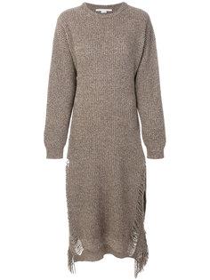 трикотажное платье с бахромой  Stella McCartney