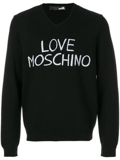 джемпер с принтом логотипа Love Moschino