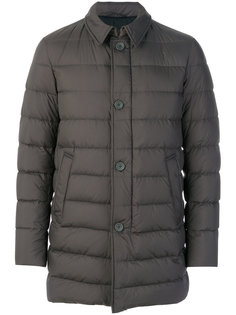 стеганое однобортное пальто Herno