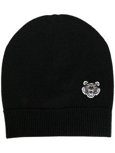 вязаная шапка с аппликацией тигра Kenzo