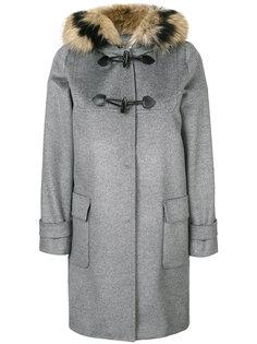 пальто с меховой отделкой  Max Mara Studio