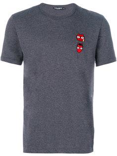 футболка с заплатками в виде дизайнеров-чертов Dolce & Gabbana