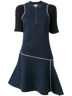 платье с открытыми швами  Kenzo