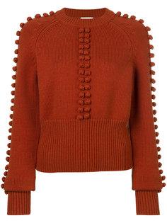 трикотажный свитер с помпонами Chloé