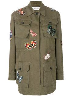 куртка с нашивка-бабочками  Valentino