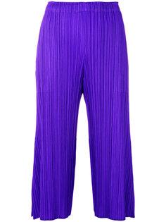 фактурные укороченные брюки со складками  Pleats Please By Issey Miyake