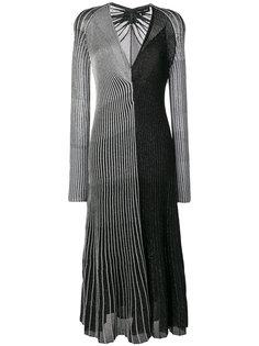 платье с длинными рукавами и V-образным вырезом  Proenza Schouler