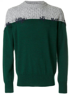 свитер с трикотажной панелью Sacai