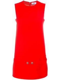 платье шифт без рукавов  Courrèges