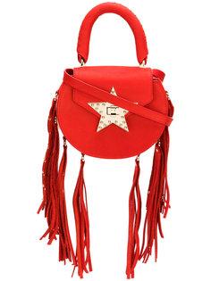 сумка на защелке в виде звезды с бахромой Salar
