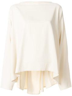 блузка с драпировкой  Mm6 Maison Margiela