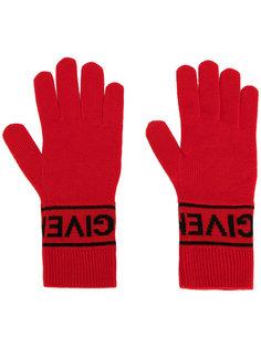трикотажные перчатки с логотипом  Givenchy