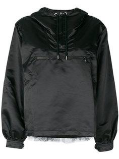 куртка с вставкой из тюля Moschino