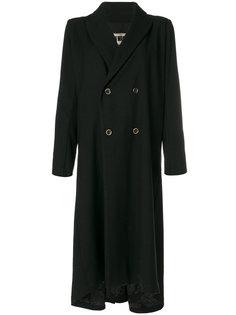 длинное двубортное пальто  Uma Wang