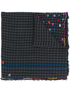 шарф с вышивкой сердец Faliero Sarti